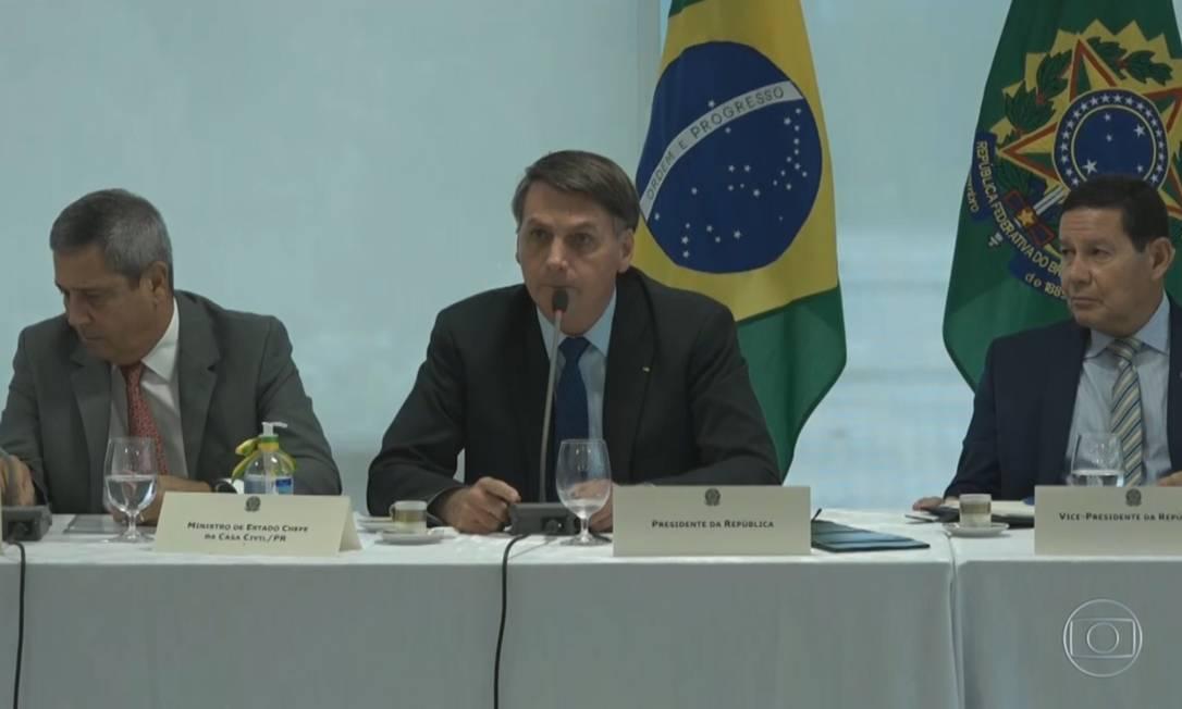 Gravação da reunião ministerial mostra que Bolsonaro defendeu o armamento da população Foto: Agência O Globo