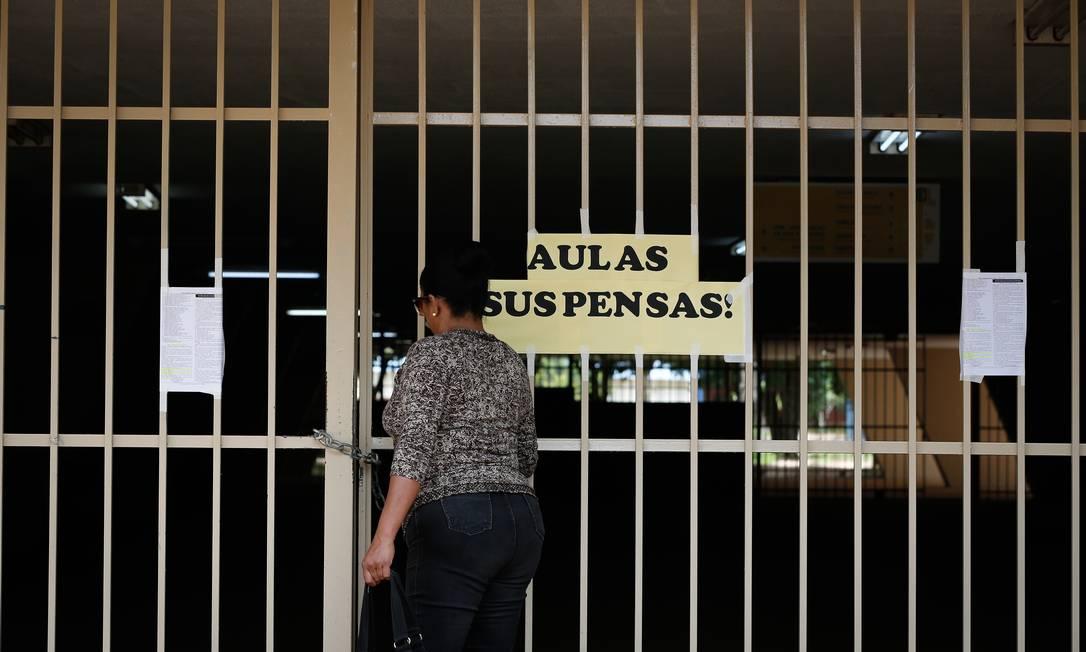 Suspensão das aulas levou ao adiamento do Enem Foto: Pablo Jacob / Agência O Globo