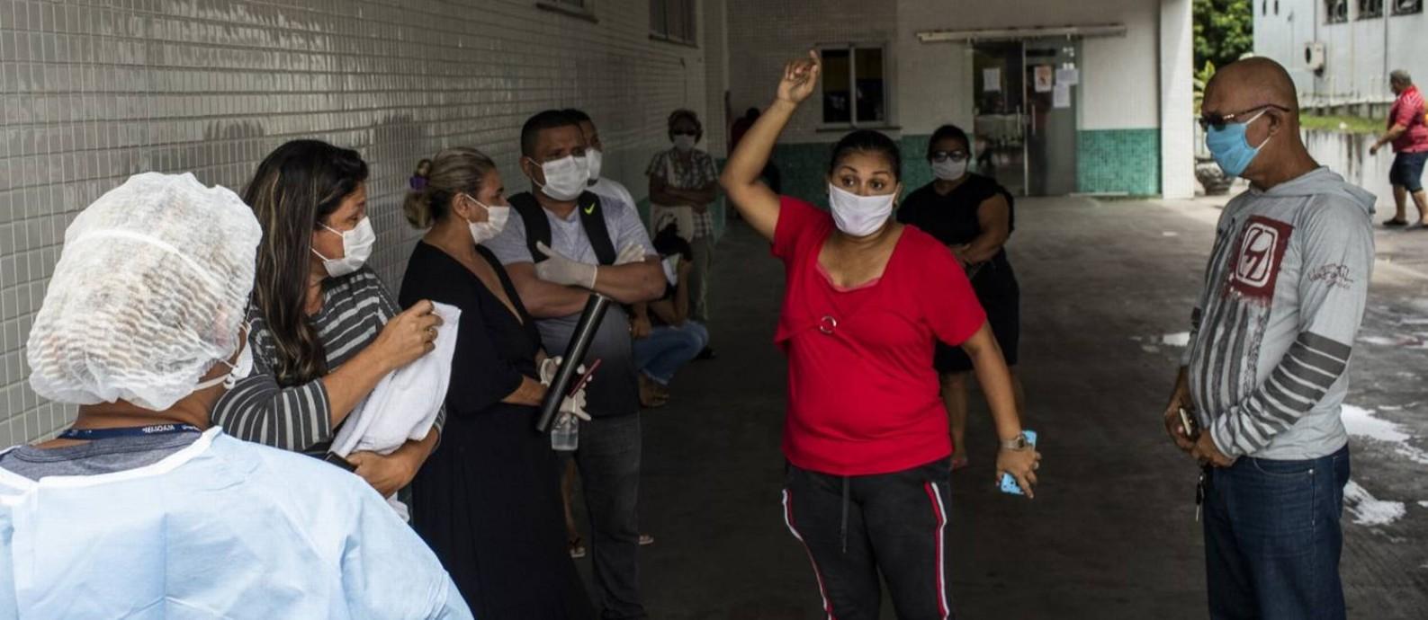 Manaus: ccolapso do sistema de Saúde Pública Foto: Raphael Alves / Agência O Globo