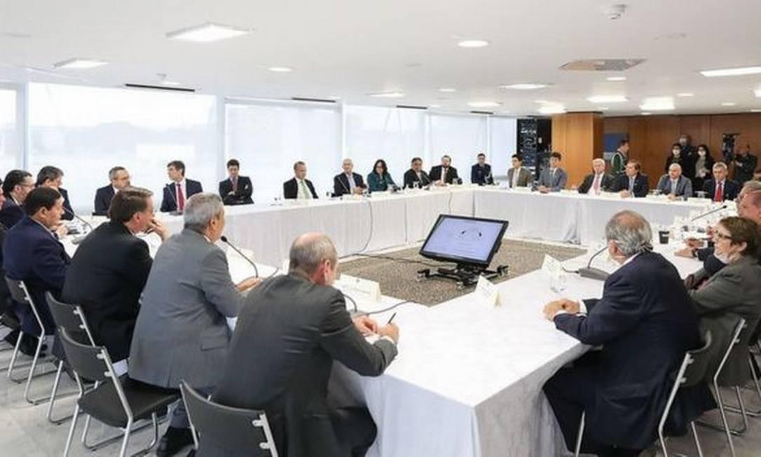Reunião ministerial realizada no dia 22 de abril Foto: Adriano Machado/Reuters