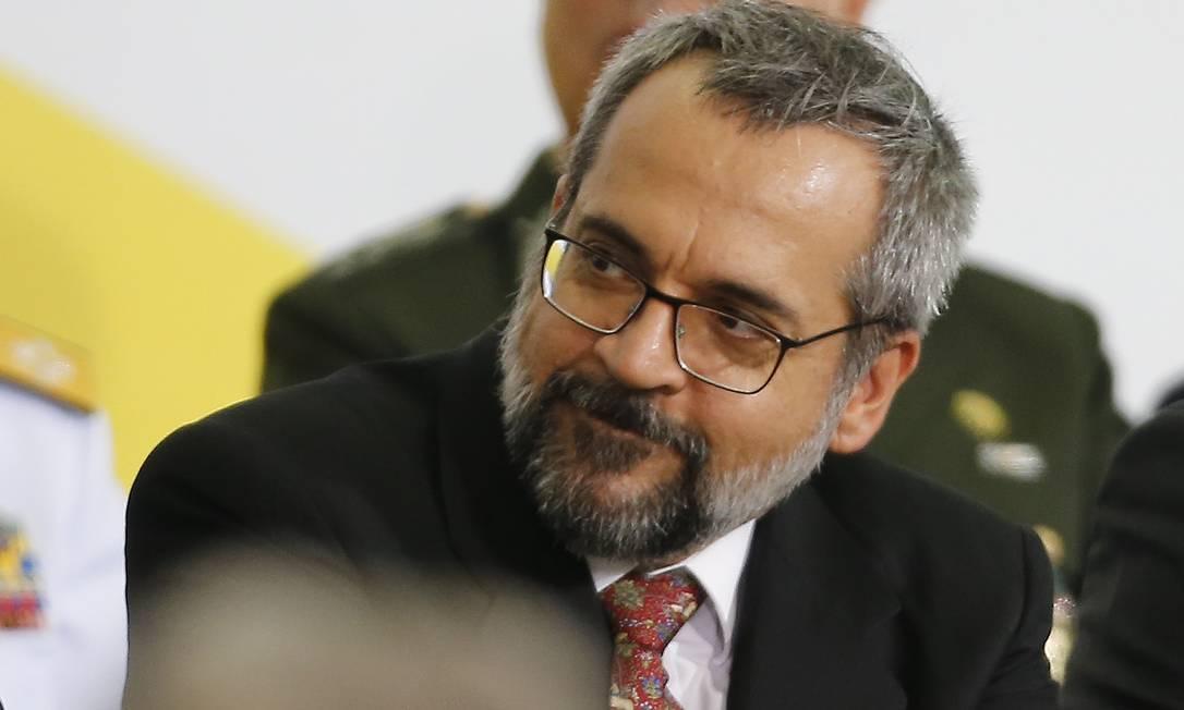 O ministro da Educação, Abraham Weintraub, durante solenidade em Brasília Foto: Jorge William / Agência O Globo