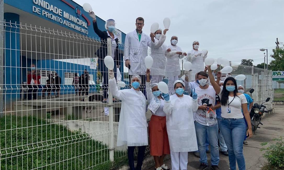 Profissionais da UMPA do Pacheco homenagearam médicos mortos por Covid-19 Foto: Divulgação