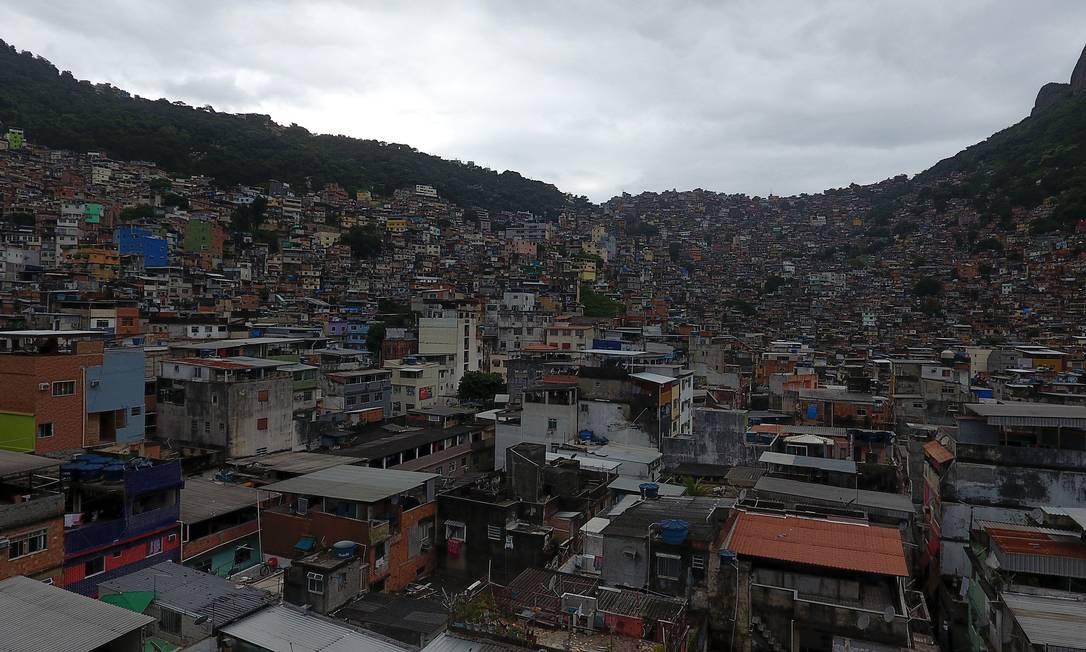 Comunidade da Rocinha; foto de 10 de abril de 2020 Foto: Fábio Motta : Fabio Motta / Agência O Globo