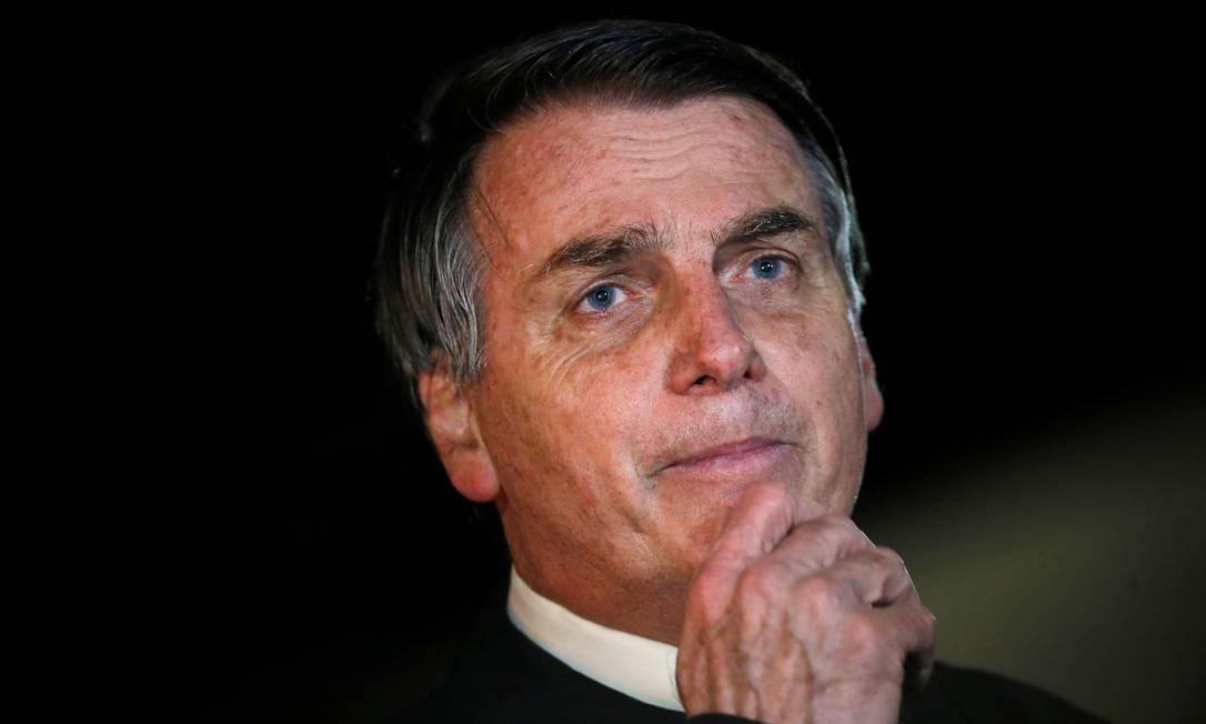 O presidente Jair Bolsonaro, no Palácio da Alvorada Foto: Adriano Machado/Reuters/22-05-2020
