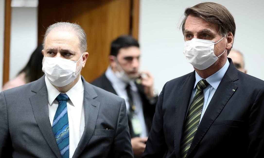 O procurador-geral da República, Augusto Aras, e o presidente Jair Bolsonaro Foto: Marcos Corrêa/Presidência