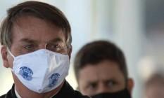 Bolsonaro dedicou 3 minutos e 6 segundos para falar sobre epidemia do coronavírus no Brasil em reunião sobre recuperação econômica após a pandemia Foto: JOÉDSON ALVES/EPA