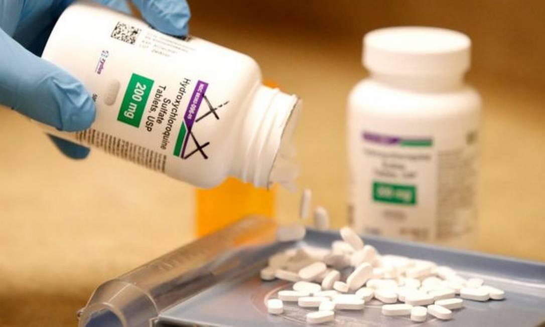 A OMS, que já suspendera a utilização da hidroxicloroquina em seus testes, descartou definitivamente o medicamento para pacientes com Covid-19 Foto: Getty Images