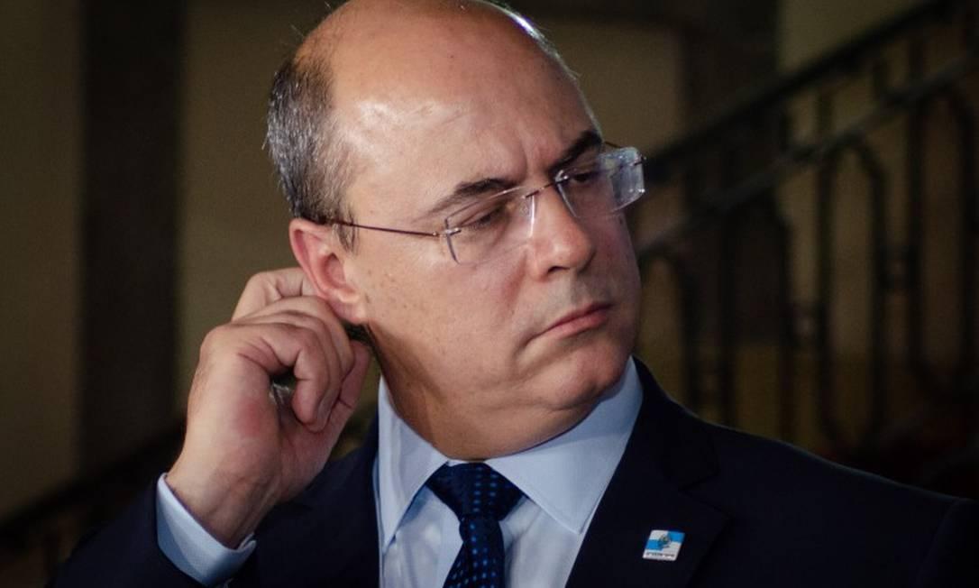 Governador Wilson Witzel foi alvo da operaçãoda PF nesta segunda-feira Foto: Vanessa Ataliba/Zimel Press / Agência O Globo