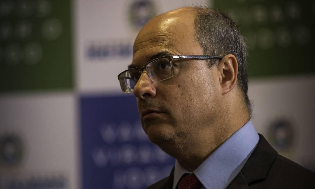 O governador do Rio, Wilson Witzel Foto: Agência O Globo