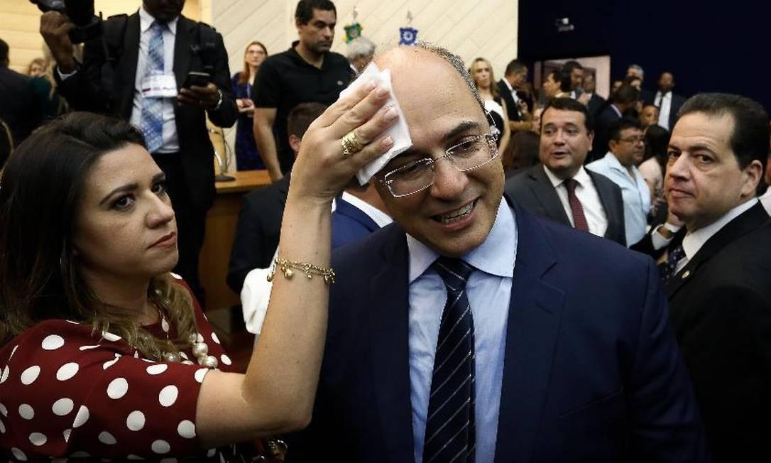Helena Witzel, durante a campanha de 2018, ao lado do marido Foto: Pablo Jacob / Agência O Globo