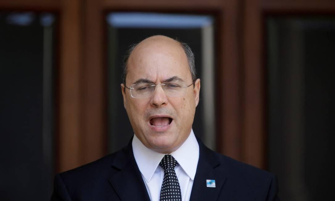 Wilson Witzel fez um pronunciamento no Palácio Laranjeiras Foto: Domingos Peixoto/ O Globo