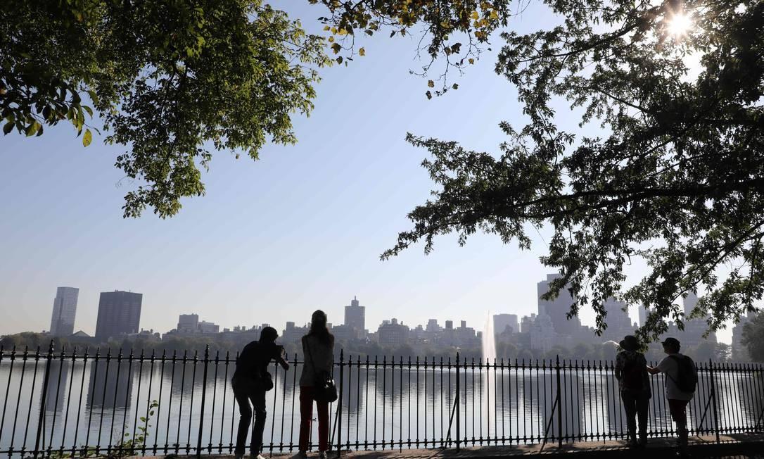 Vista do Central Park, onde ocorreu o caso de racismo nesta segunda-feira Foto: LUDOVIC MARIN / AFP