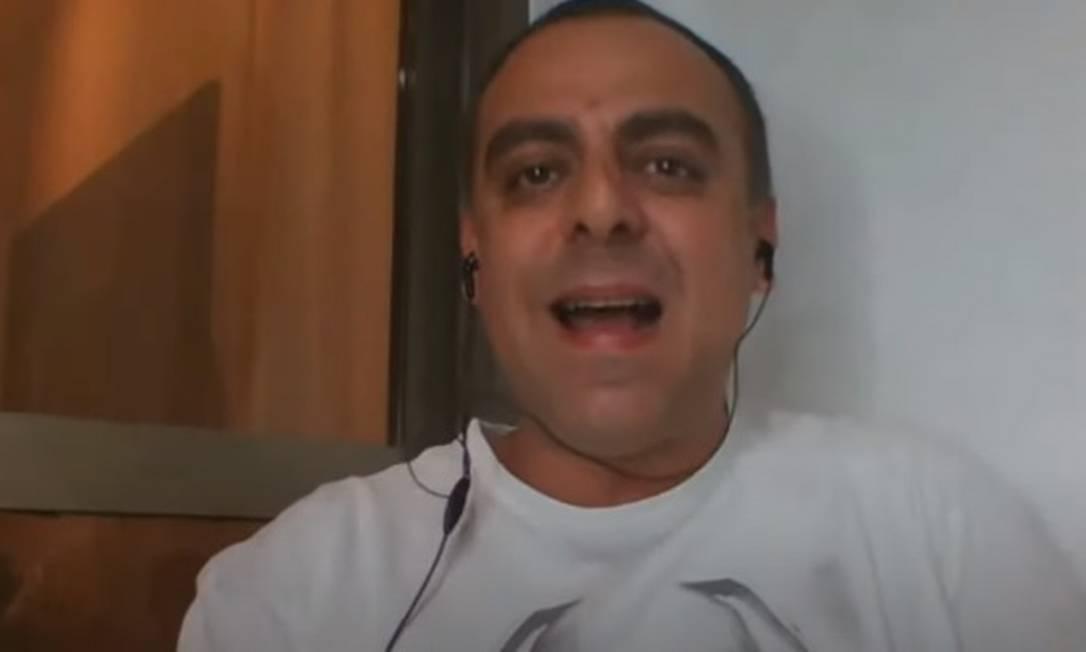 O deputado Anderson Moraes em transmissão ao vivo no Youtube Foto: Reprodução