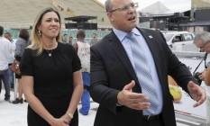 Helena Witzel e o governador: discreta, mas com influência Foto: Domingos Peixoto em 28-2-2019 / Agência O GLOBO