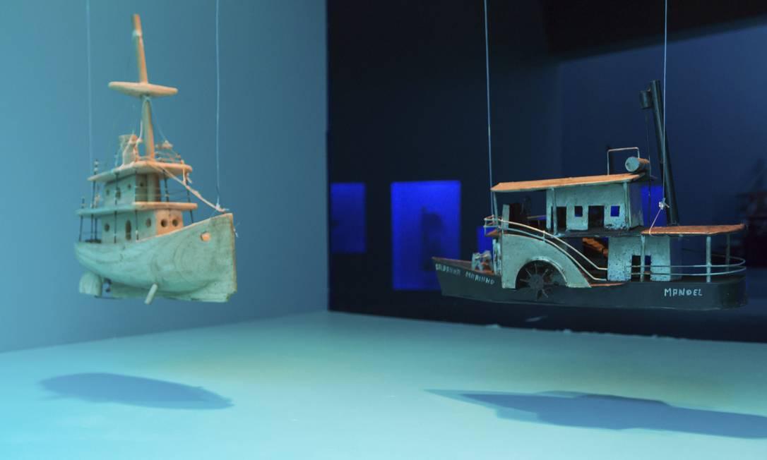 No mar. Recorte da exposição (RE)INVENTAR, com parte do acervo do Museu Casa do Pontal, que estava em cartaz no Sesc Santos Foto: Divulgação
