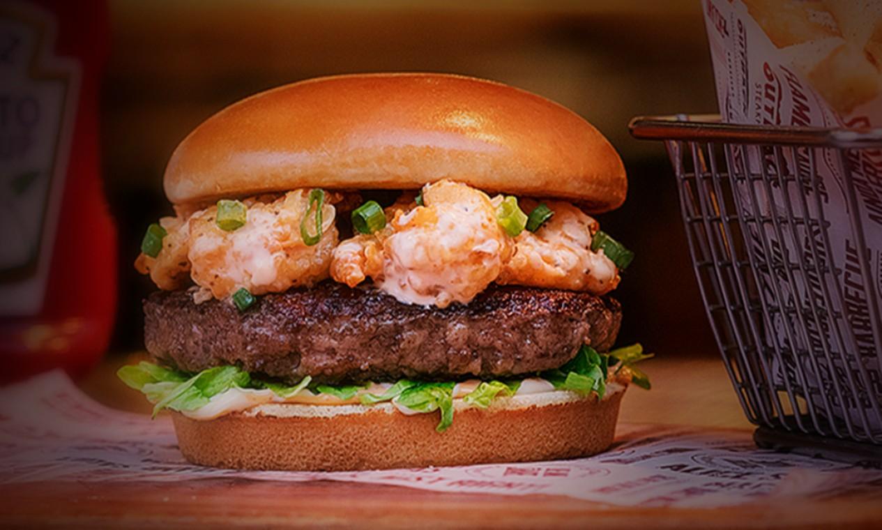 Fire Cracker Shrimp Burger, do Outback Foto: Divulgação