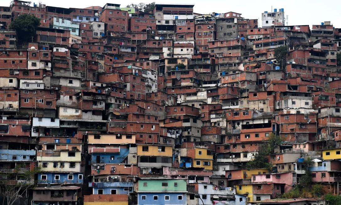 Bairro de Petare, no leste de Caracas, capital da Venezuela Foto: Frederico Parra / AFP