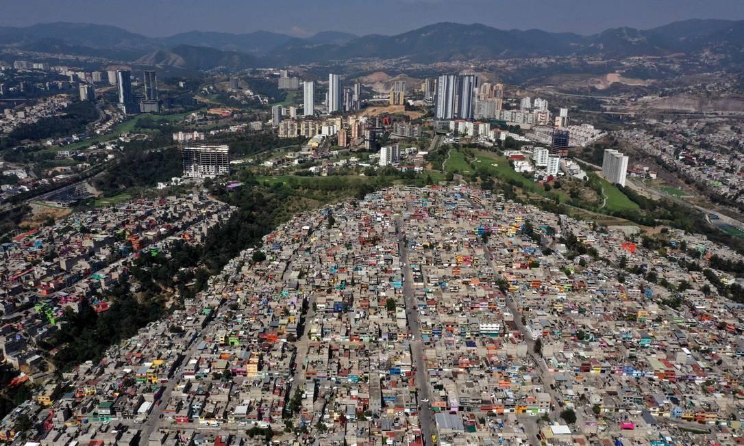 Cidade de Huixquilucan, na Região Metropolitana da Cidade do México, capital do país Foto: Alfredo Estrella / AFP