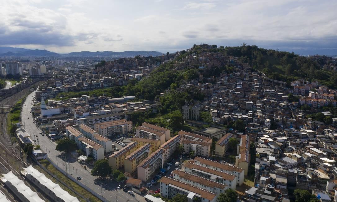 Comunidade da Mangueira, na Zona Norte do Rio Foto: Gabriel Monteiro / Agência O Globo