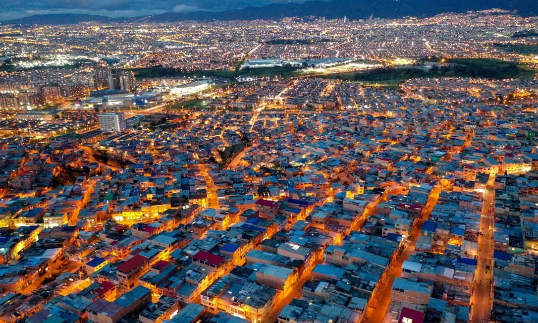 Cidade Bolívar, no sul de Bogotá, capital da Colômbia Foto: Raul Arboleda / AFP