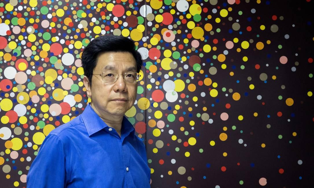 O diretor executivo da Sinovation Ventures, Kai-fu Lee, participou de painel com o diretor executivo da Globo Ventures, Roberto Marinho Neto Foto: Giulia Marchi / Bloomberg