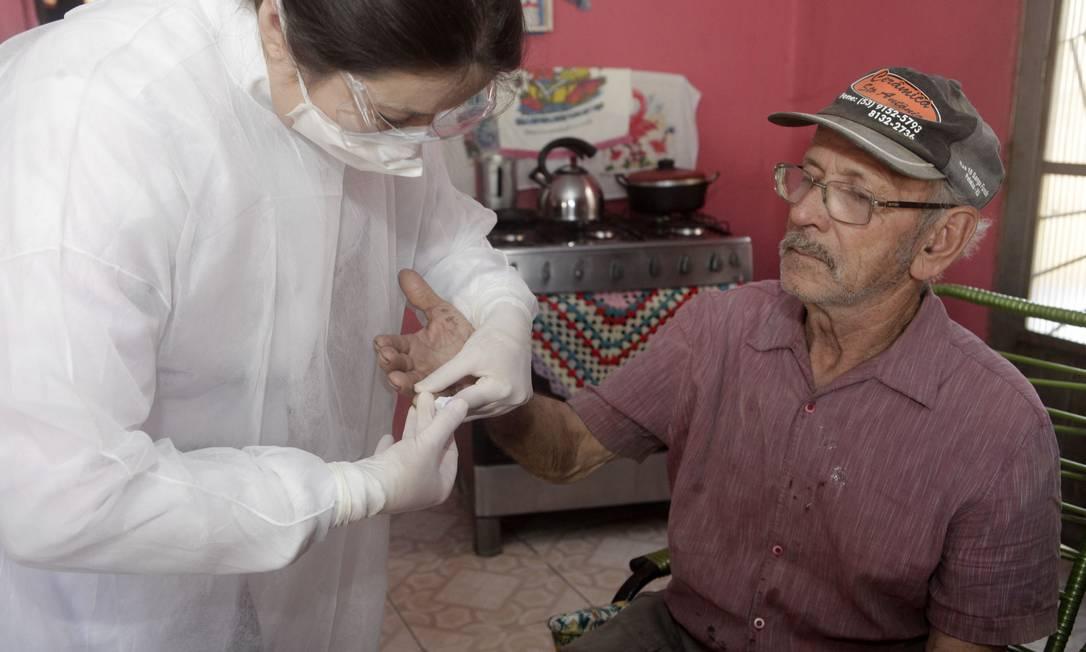 Pesquisa testa população para Covid-19 em suas casas Foto: Daniela Xu / Divulgação