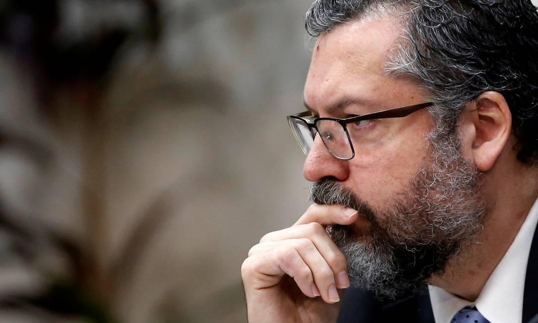 O chanceler do governo Bolsonaro, Ernesto Araújo Foto: ADRIANO MACHADO / Reuters