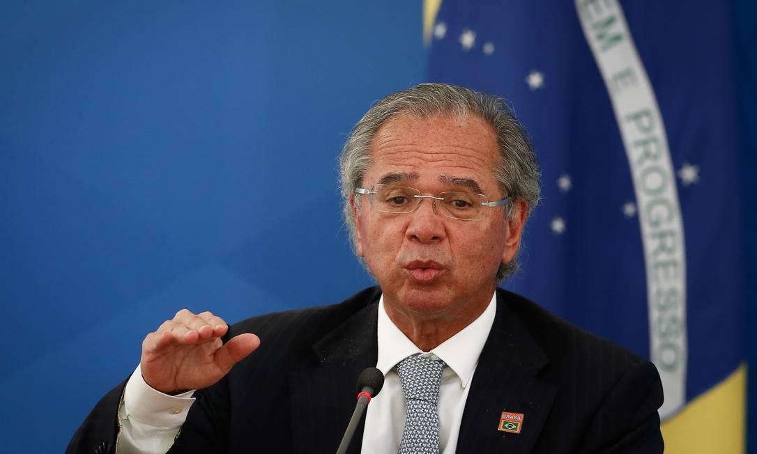 O ministro da Economia, Paulo Guedes, que trabalha na formulação do plano Foto: Pablo Jacob / Agência O Globo