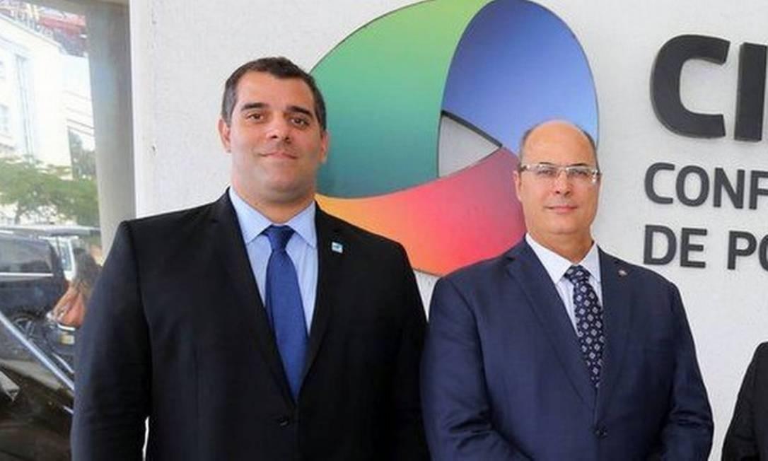 O secretário Lucas Tristão e o governador Wilson Witzel durante agenda em 2019 Foto: Divulgação