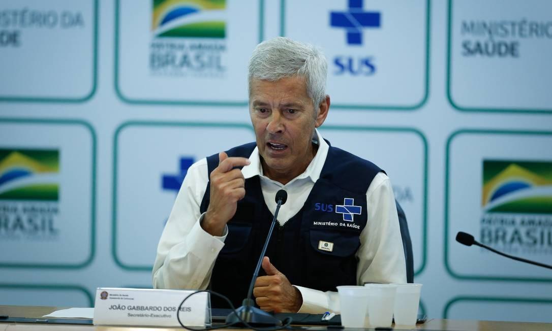João Gabbardo dos Reis quando ainda trabalhava no Ministério da Saúde, em 26 de março de 2020. Foto: Pablo Jacob / Agência O Globo
