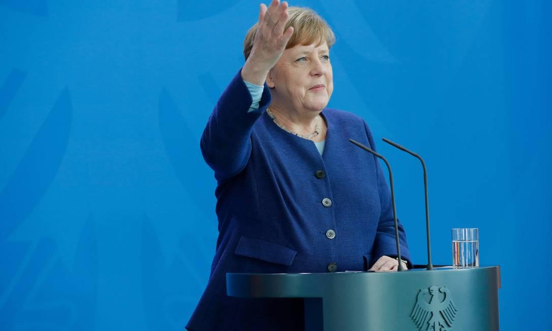 A chanceler alemã, Angela Merkel Foto: ODD ANDERSEN / AFP/20-05-2020