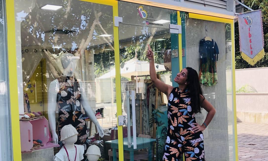 Bárbara Moraes, dona da Bibelu, loja de moda infantil na Barra da Tijuca, teve empréstimo negado pelo seu banco privado Foto: Arquivo pessoal / Arquivo pessoal