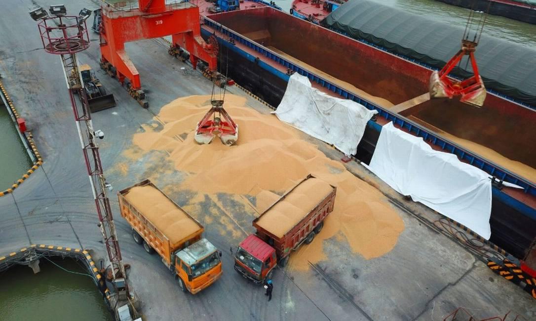 Soja foi um dos produtos cujas compras foram inerrompidas por determinação do governo chinês Foto: Bloomberg
