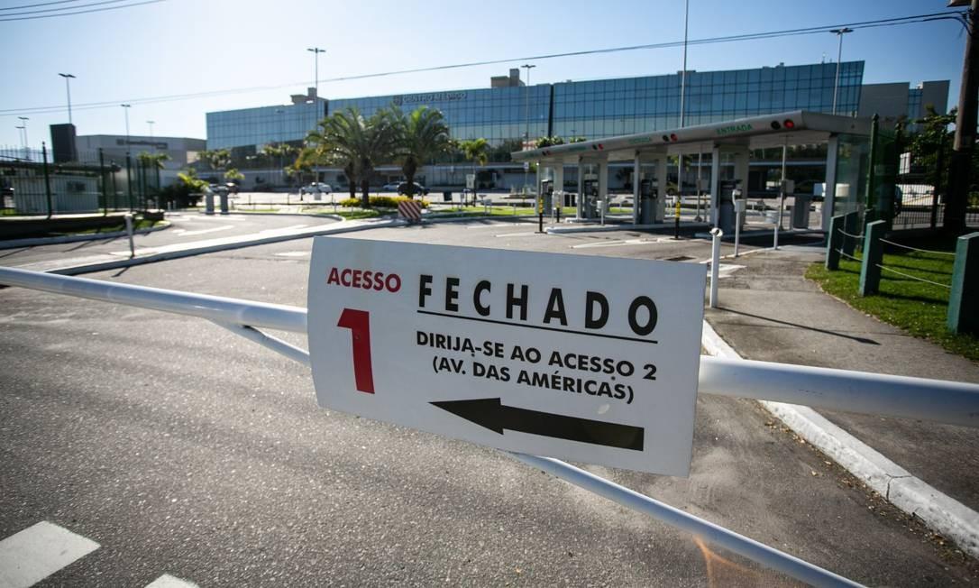 Barra Shopping, na Barra da Tijuca, à espera da reabertura na próxima semana Foto: Hermes de Paula / Agência O Globo
