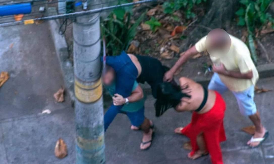 Foto do momento em que médica foi agredida no Grajaú Foto: Reprodução