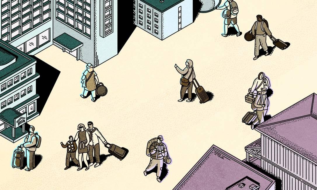Na era pós-Covid, viajantes enfrentarão dilema de escolher entre hotéis e Airbnb Foto: KATHLEEN FU / NYT