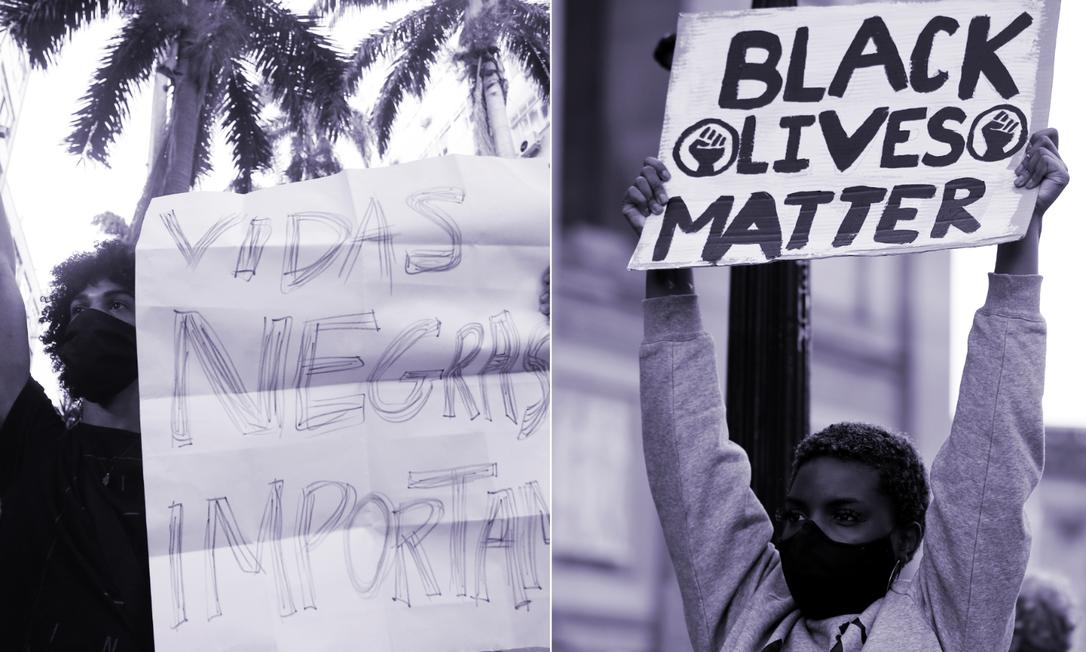 Manifestações antirracistas se espalharam por cidades dos EUA, Europa e Brasil Foto: Agência O Globo / Reuters
