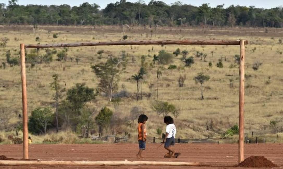 Mortalidade infantil é considerada realidade frequente entre crianças Xavante, em razão da falta de assistência médica Foto: ADRIANO GAMBARINI/OPAN