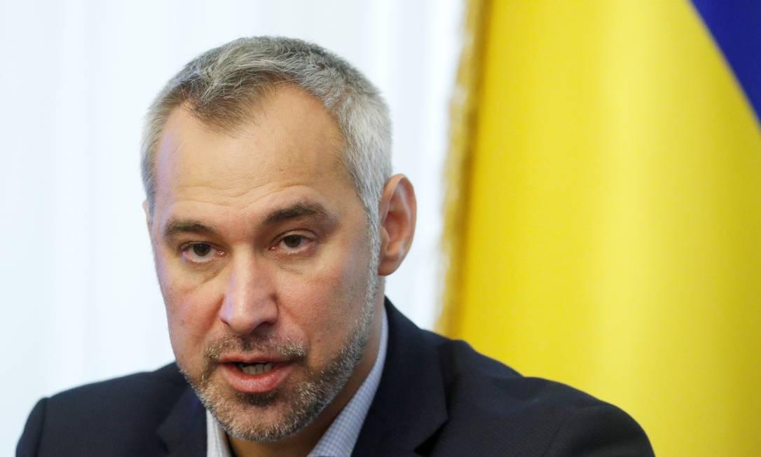 Ruslan Ryaboshapka, ex-procurador-geral da Ucrânia, durante entrevista em outubro de 2019 Foto: Valentyn Ogirenko / REUTERS