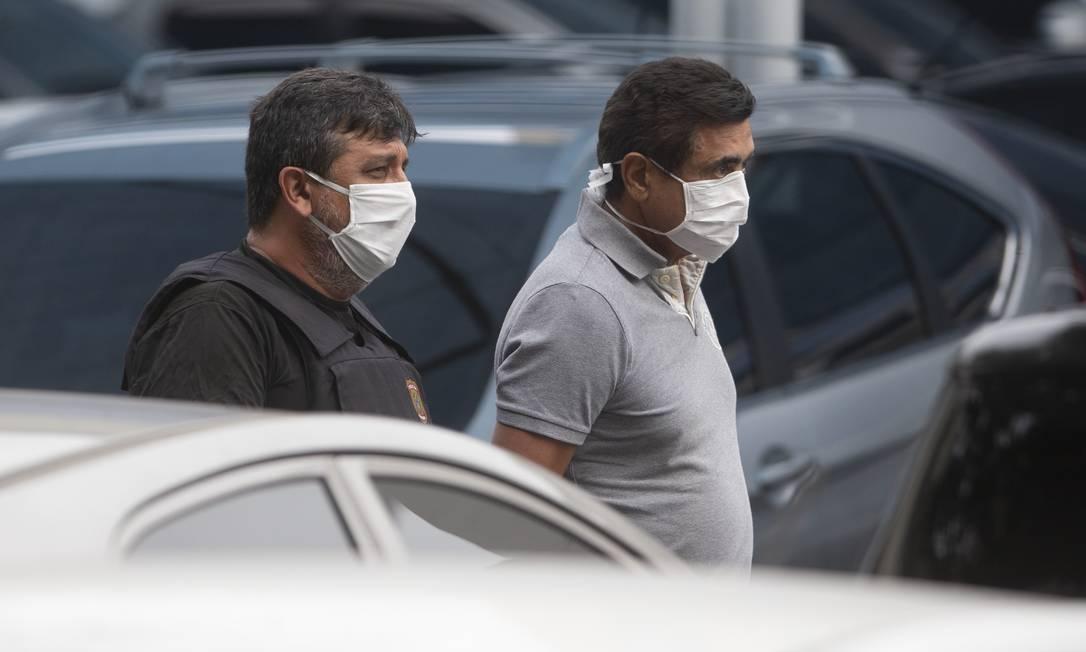 A prisão do empresário Mário Peixoto no último dia 14: suspeita de fraudes em contratos firmados com o estado Foto: Márcia Foletto / Agência O Globo