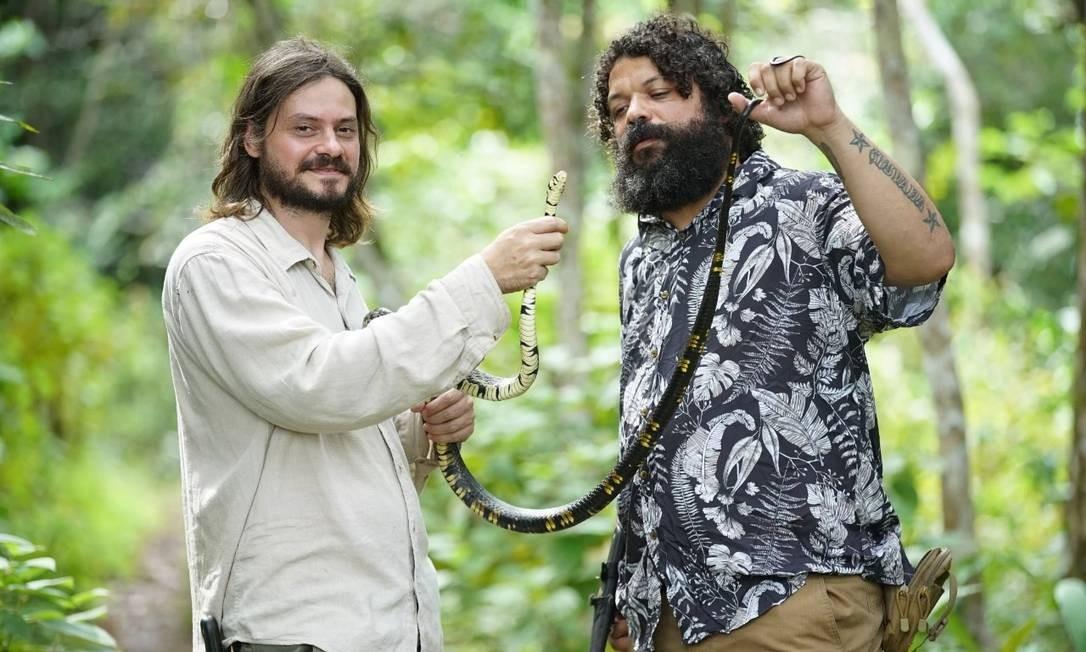 Os biólogos Rafael de Fraga e Vinícius de Carvalho Foto: Divulgação/National Geographic