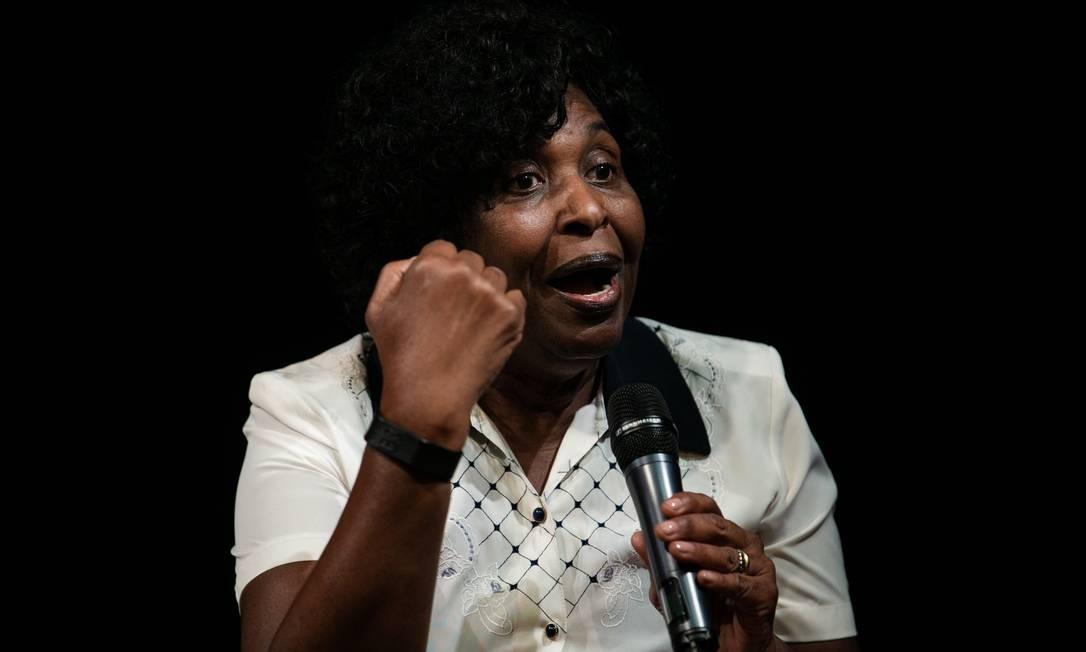 Pré-candidata. A deputada Benedita da Silva, de 78 anos, será o nome do PT para na disputa no Rio Foto: Roberto Moreyra / Agência O Globo