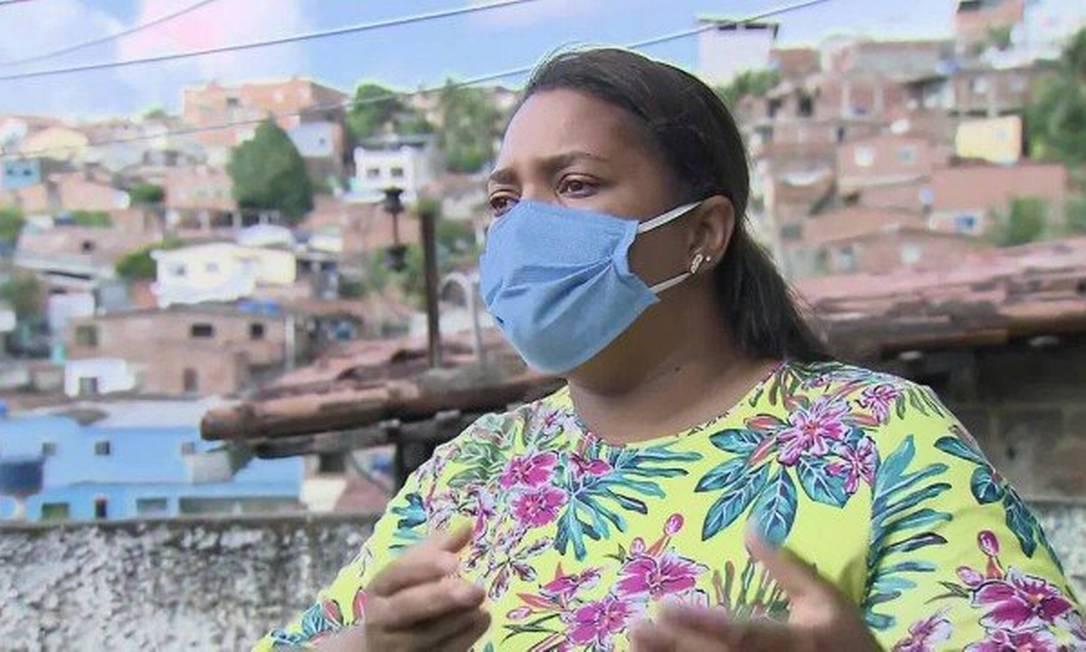 Mirtes Renata Souza é mãe do menino Miguel, de 5 anos, morto ao cair do 9° andar de um prédio no Centro de Recife, na terça-feira Foto: Reprodução / TV Globo