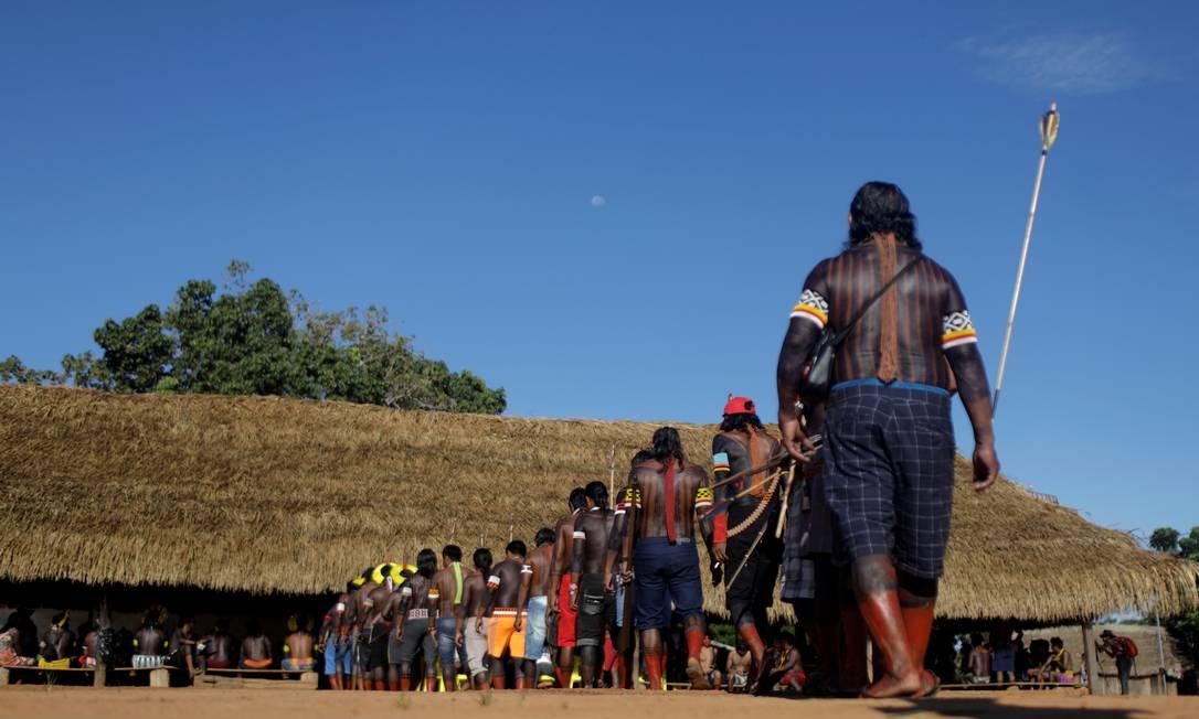 Indígenas da tribo Kayapó, próximo a São José do Xingú, em Matro Grosso. Foto: RICARDO MORAES / Reuters