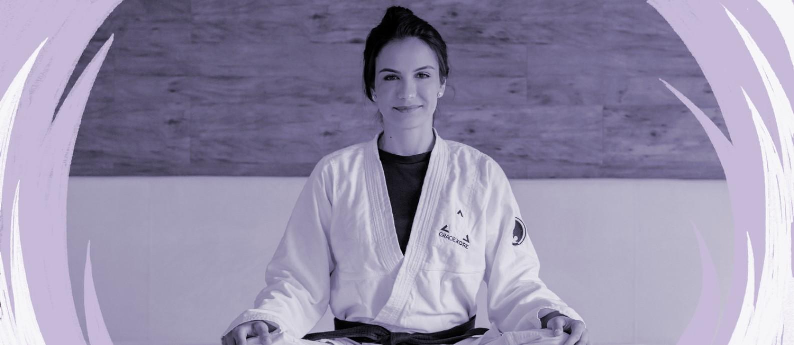 A empresária e pentacampeã mundial de jiu-jitsu Kyra Gracie, de 35 anos, desenvolveu um curso online sobre defesa pessoal feminina Foto: Robert Carraco