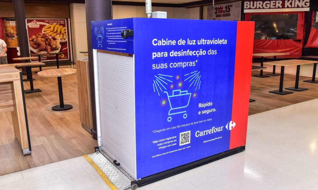 Cabine de luz ultravioleta deve ser implementada em mais unidades em breve Foto: Divulgação