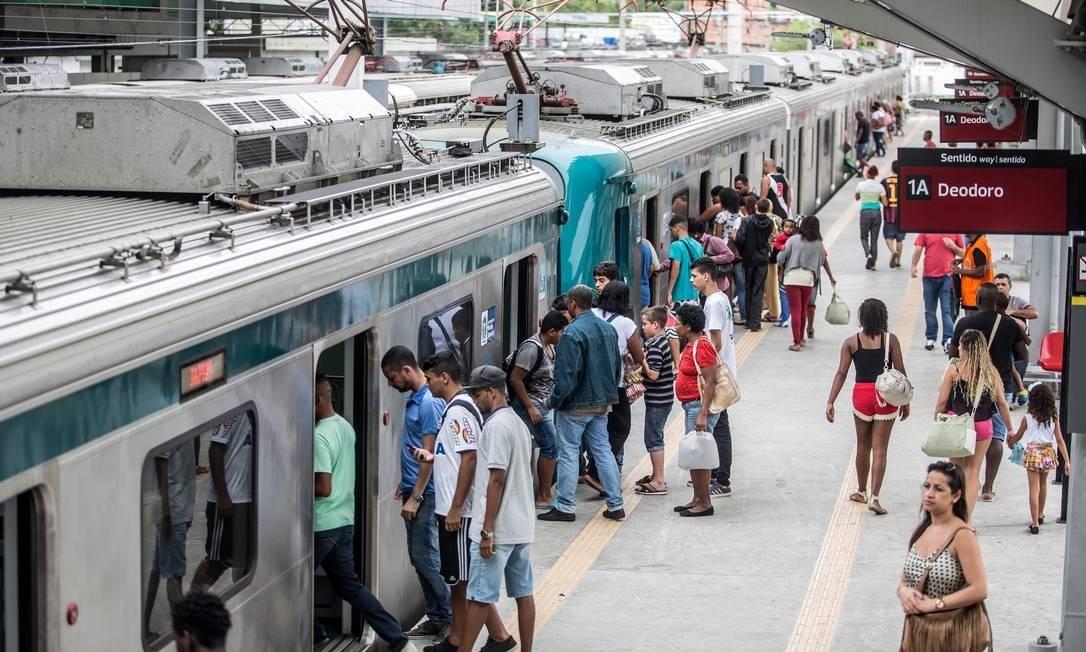 Estação de trem de Deodoro antes da pandemia de coronavírus Foto: Divulgação/ Supervia