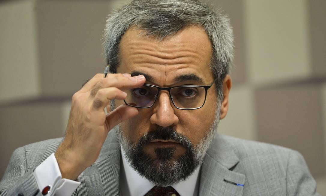 O ministro da Educação, Abraham Weintraub, que enviou ofício a Guedes Foto: Marcelo Camargo / Agência Brasil
