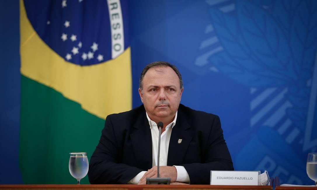Ministro interino da Saúde, Eduardo Pazuello Foto: Pablo Jacob / Agência O Globo