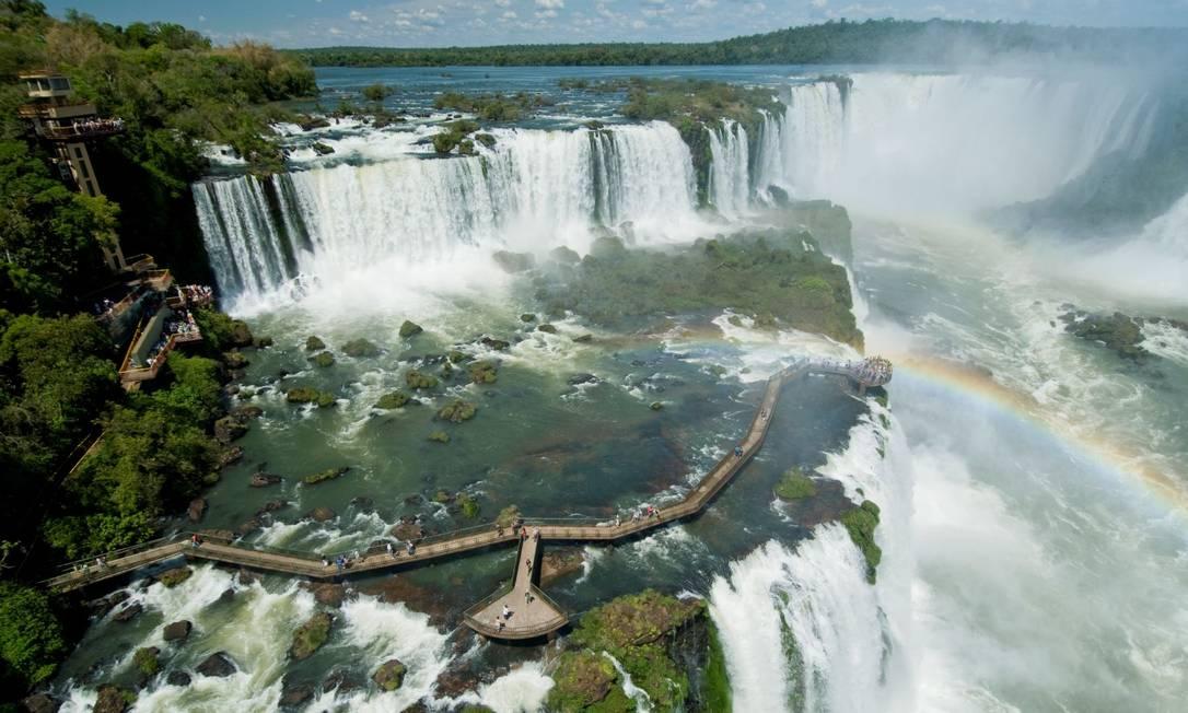 A visitação das Cataratas do Iguaçu é novamente suspensa por 14 dias, por conta da alta dos casos de novo coronavírus no Paraná Foto: Divulgação